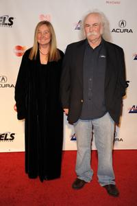 Jan Dance and David Crosby at the Musicares Person of the Year Dinner honoring Neil Young.