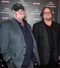 David Crosby and Stephen Stills at the Candie's Foundation Event in New York.