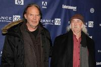 Neil Young and David Crosby at the premiere of