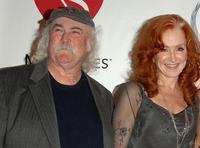 David Crosby and Bonnie Raitt at the 2006 MusiCares Person of the Year honoring James Taylor.