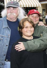 David Crosby, his wife Jan and son Django at the Los Angeles premiere of