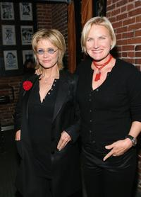 Denise Crosby and Cindy Pickett at the VDAY West LA 2006 cocktail reception.