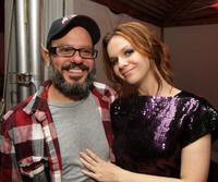 David Cross and Amber Tamblyn at the after party of the New York premiere of