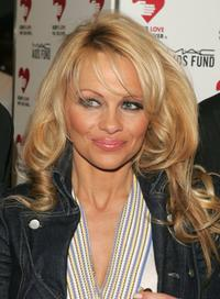 Pamela Anderson at the benefit for the M.A.C. AIDS Fund.