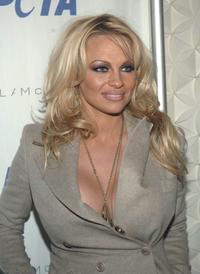Pamela Anderson at the PETA's Fashion Week Bash.