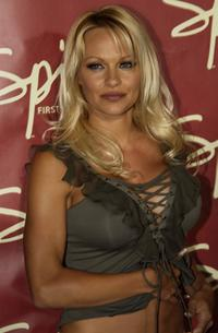 Pamela Anderson at the official launch party for Spike TV.