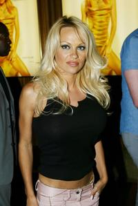 Pamela Anderson at the official launch party for Vegas Magazine.