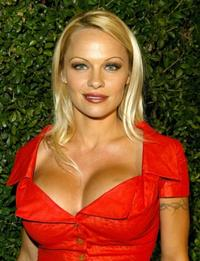 Pamela Anderson at the opening of the Stella McCartney Store.