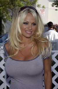 Pamela Anderson at the Standup For Skateparks benefit.