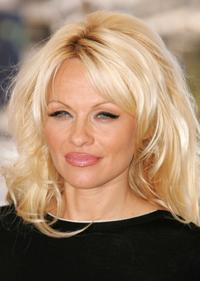 Pamela Anderson at the photocall promoting