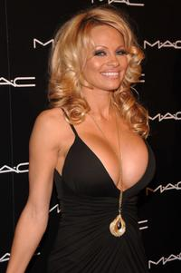 Pamela Anderson at the M.A.C. Chinese New Year Party.