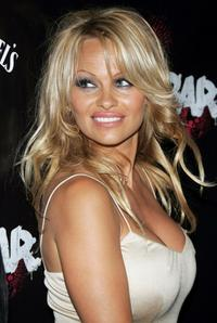 Pamela Anderson at the grand opening party of Rokbar Hollywood.