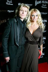 Pamela Anderson and Hans Klok at the after party for the opening night performance of
