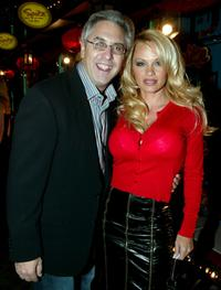 Pamela Anderson and Albie Hecht at the 1st Annual Video Game Awards.