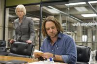 Helen Mirren as Cameron Lynne and Russell Crowe as Cal McAffrey in