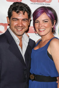 Alexis Cruz and Heather C. Harris at the California premiere of