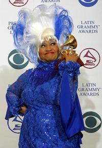 Celia Cruz at the 3rd Annual Latin Grammy Awards.