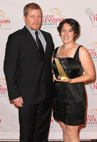 Michael Cudlitz and Clare Major at the 32nd Annual College Television Awards in California.