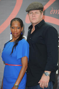 Regina King and Michael Cudlitz at the photocall of