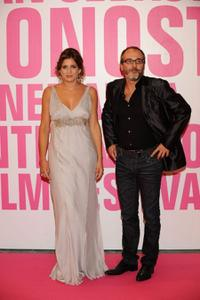 Lucia Jimenez and Fernando Guillen Cuervo at the 56th San Sebastian Film Festival.