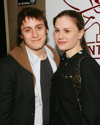 Kieran Culkin and Anna Paquin at the 24 Hour Plays On Broadway after party.