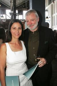Zoe Carides and Max Cullen at the Sydney Theatre Company 2005 Season Launch.