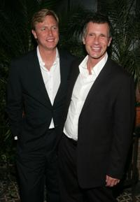 Jeffrey Sharp and Michael Cunningham at the New York after-party premiere of