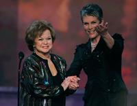 Jamie Lee Curtis and Shirley Temple Black at the 12th Annual Screen Actors Guild Awards.