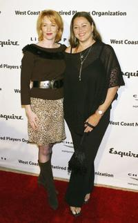 Ann Cusack and Camryn Manheim at the Penny Marshall's birthday party to benefit Life on Purpose Foundation.