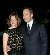 Joan Cusack and husband Richard Burke at the premiere of