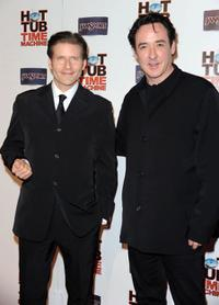 Crispin Glover and John Cusack at the California premiere of