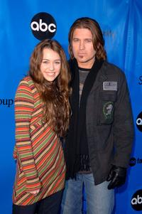 Miley Cyrus and Billy Ray Cyrus at the Disney/ABC Television Group All Star Party.