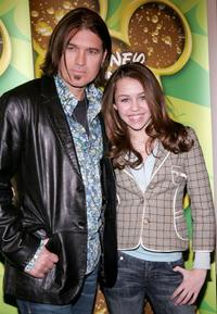 Billy Ray Cyrus and Miley Cyrus at the Splashlight Studios.