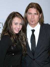 Miley Cyrus and Billy Ray Cyrus at the City of Hope Spirit of Life Award dinner.