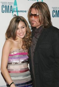 Miley Cyrus and Billy Ray Cyrus at the 40th Annual CMA Awards.