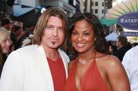 Billy Ray Cyrus and Laila Ali at the Hollywood premiere of
