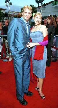 Olivia D'Abo and Guest at the premiere of