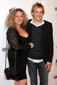 Patti D'Arbanville and Jesse Johnson at the premiere of