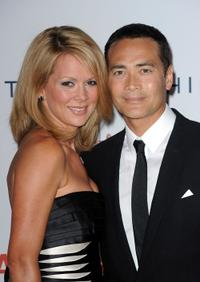 Julie Condra and Mark Dacascos at the 17th Annual Race to Erase MS event.
