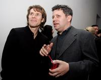 Willem Dafoe and producer Noah Khoshbin at the unveiling of Robert Wilson's