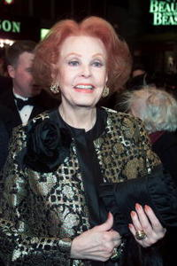 Arlene Dahl at New York for the premier of the Broadway Musical.