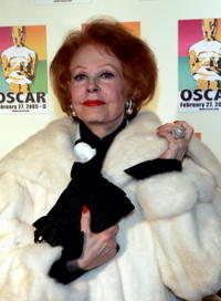 Arlene Dahl at the New York celebration of the Academy Awards.