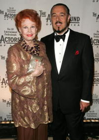 Arlene Dahl and husband Marc Rosen at the Actors Fund of America annual gala.