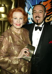 Arlene Dahl and husband Marc Rosen at the AMPAS Official Oscar Night celebration.
