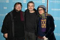 Guillermo del Toro, Alfonso Cuaron and Gael Garcia Bernal at the premiere of