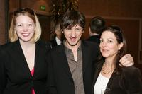 Gretchen Enders, John Hawkes and Carrie Frazier at the AFI Awards Luncheon 2005.