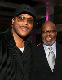 Director Tyler Perry and Reuben Cannon at the premiere of
