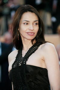 Beatrice Dalle at the 56th International Cannes Film Festival.