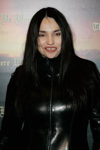Beatrice Dalle at the Paris premiere of