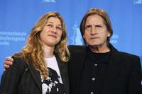 Director Nicole Haeusser and Joe Dallesandro at the photocall of